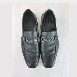 Men Dress Shoes Loafers leather Slip on Black 10